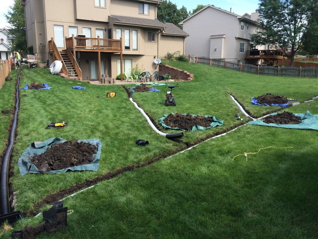 Interior exterior remodeling omaha our work for Outside drainage system
