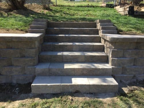 Retaining Wall Steps Ideal Renovations