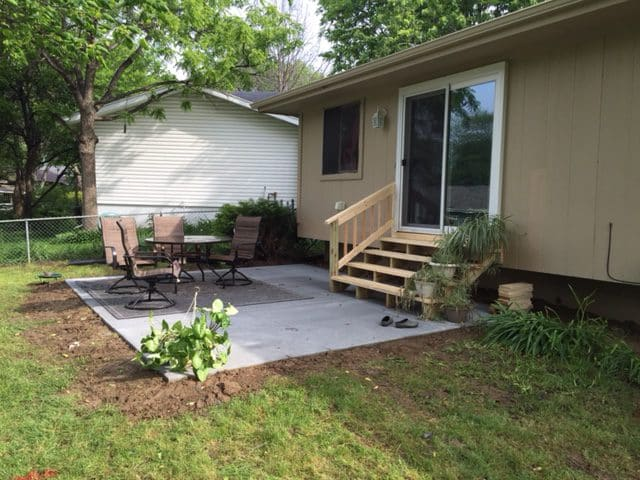 Concrete Patio Southwest Omaha