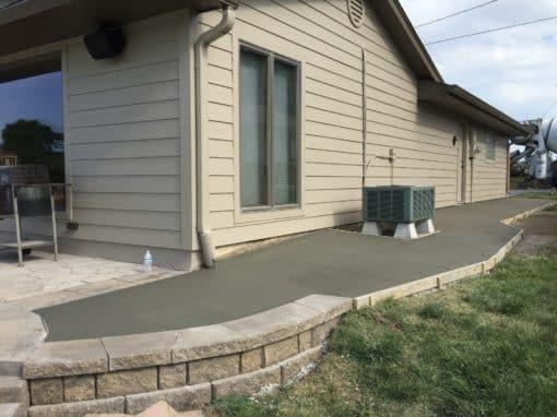 Concrete Sidewalk Install