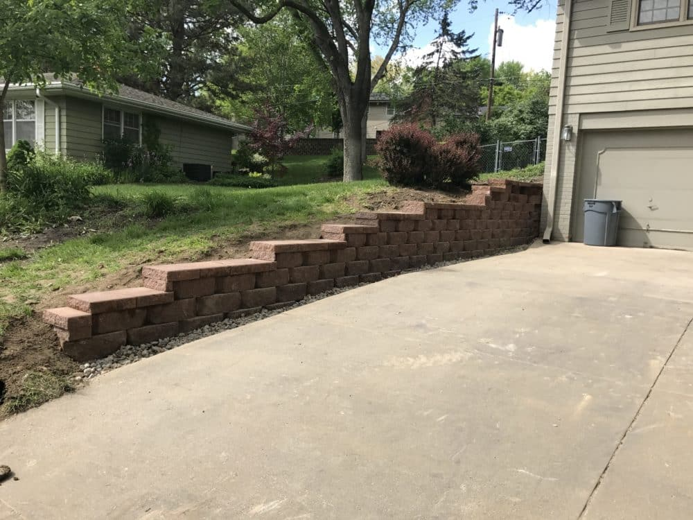 Driveway Retaining Wall Water Drainage Concrete