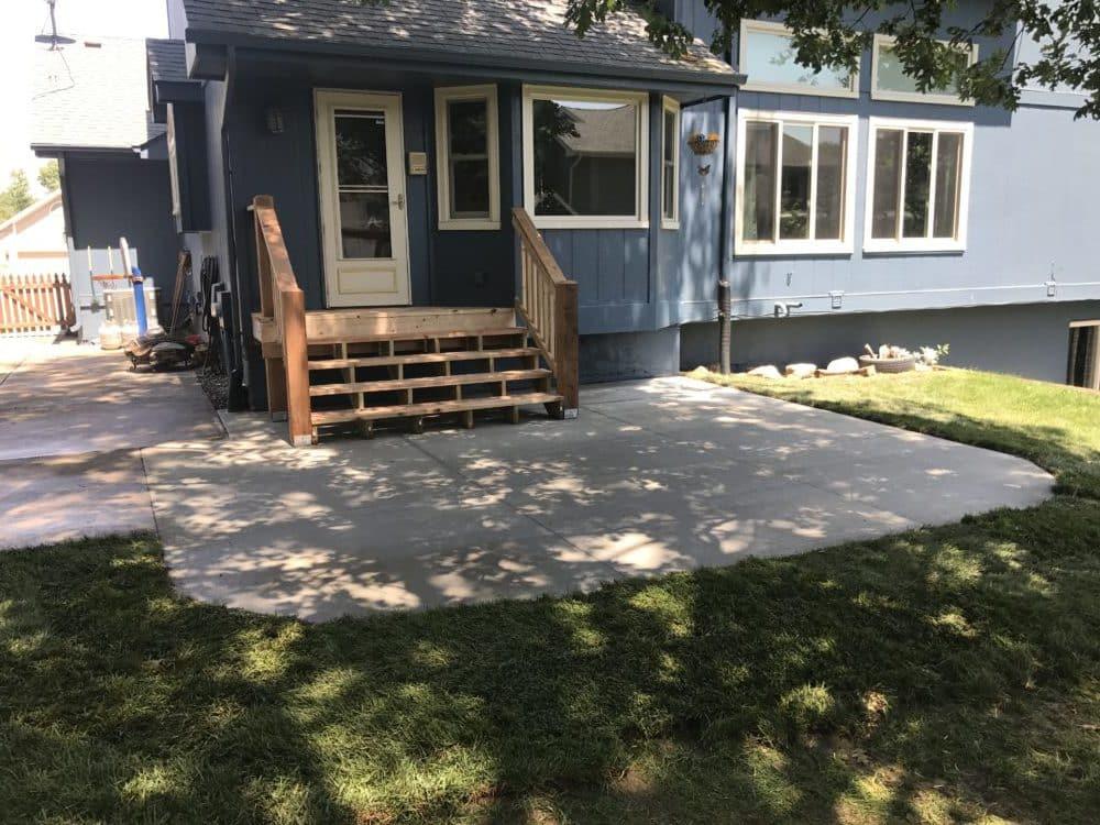 New Concrete Patio, Steps & Deck Removal - Water Drainage Concrete ...