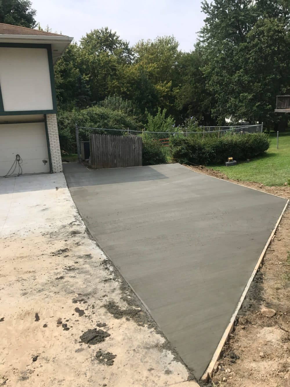 Concrete Driveway Extension And Repair Water Drainage